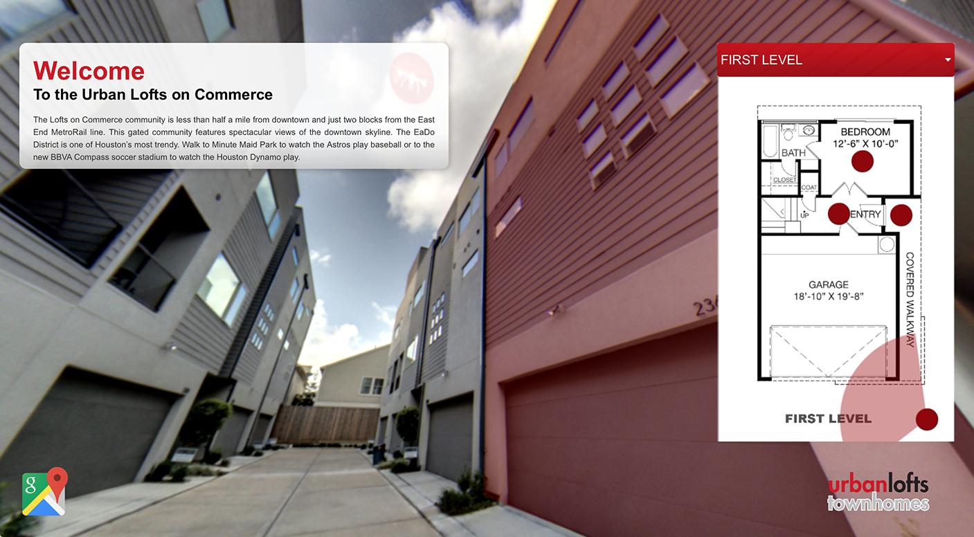Lofts on Commerce virtual tour screen capture