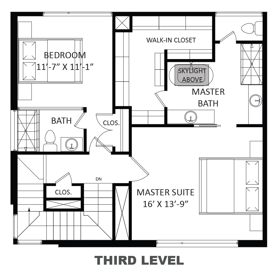 Ashley (Three-story), Third floor