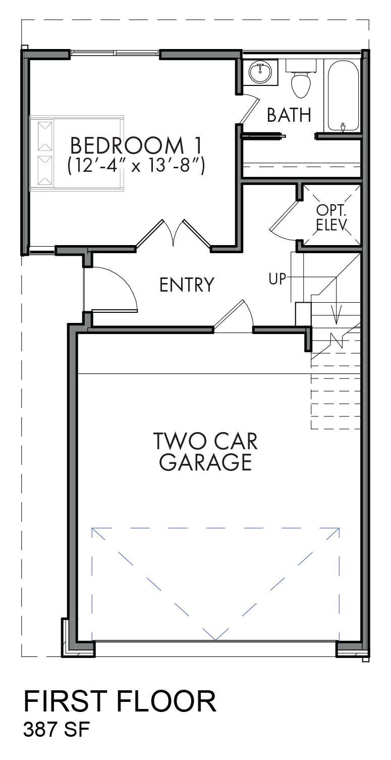 Lofts on Bennett Avenue - Plan C, First floor
