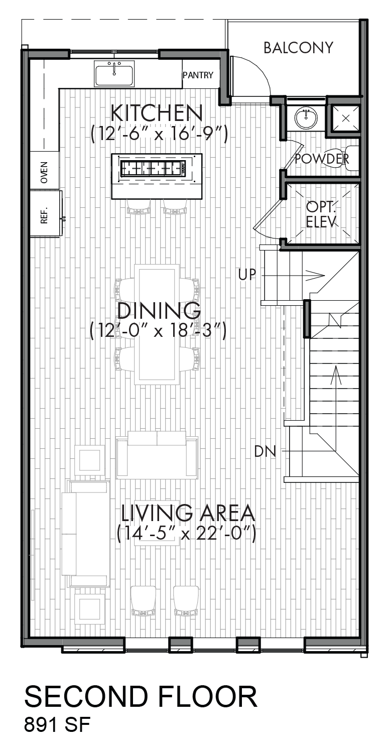 Lofts on Bennett Avenue - Plan C, Second floor