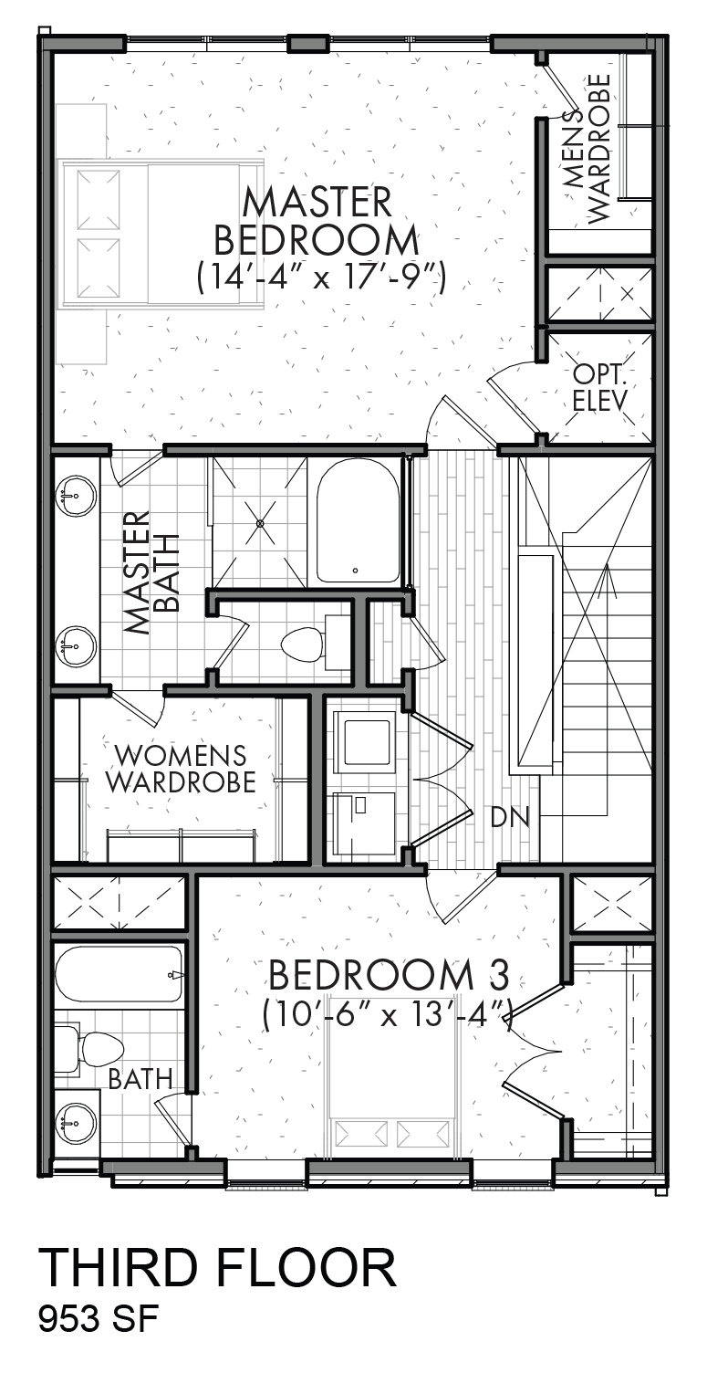 Lofts on Bennett Avenue - Plan C, Third floor