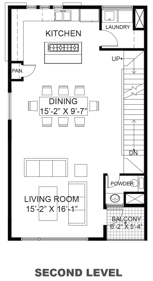 Lofts on Commerce - Plan B, Second floor