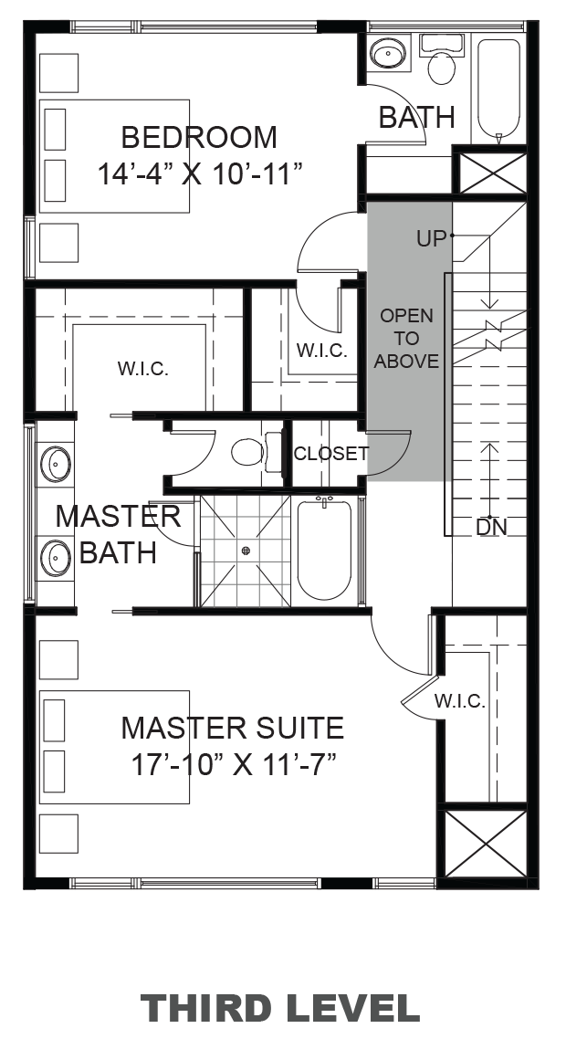 Lofts on Commerce - Plan B, Third floor