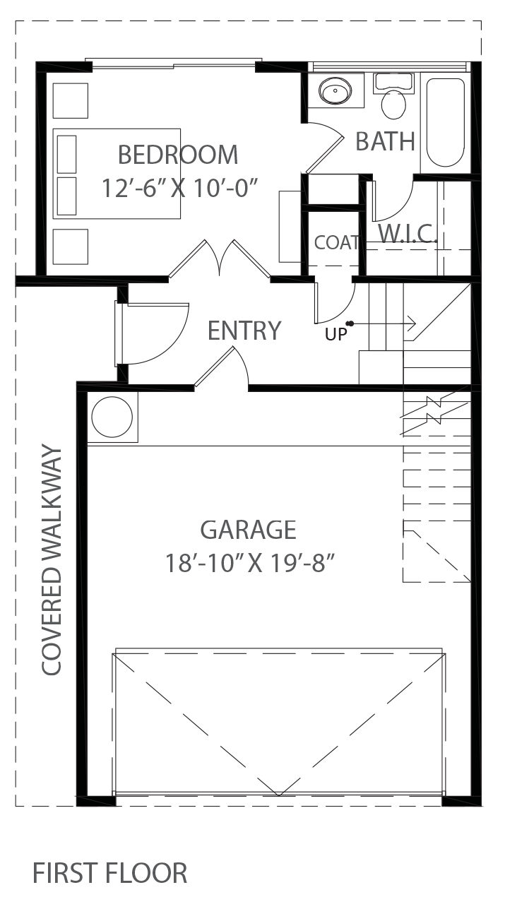 Lofts on Commerce - Plan B Three-story, First floor
