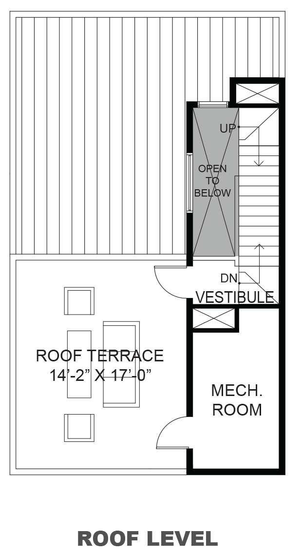 Lofts on Commerce - Plan B, Roof terrace