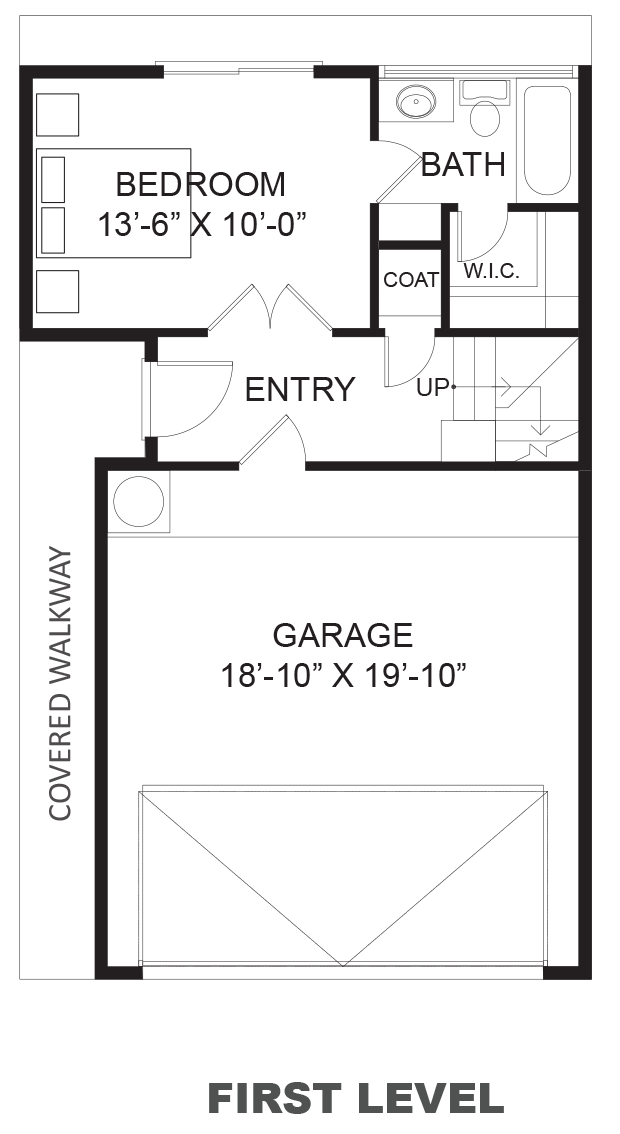 Hawthorne Avenue Townhomes - Plan A, First floor