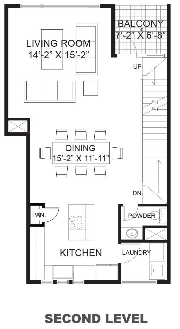 Hawthorne Avenue Townhomes - Plan A, Second floor