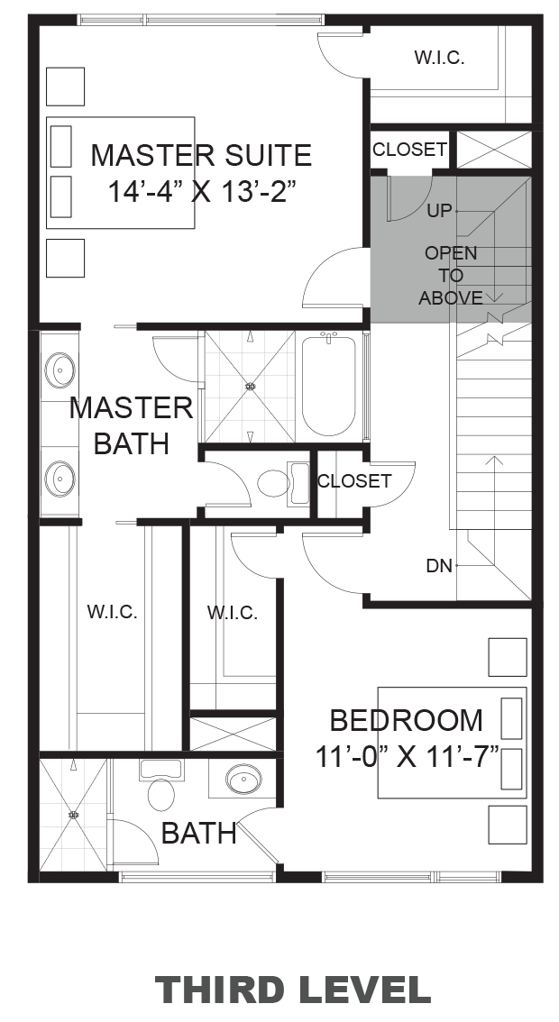 Hawthorne Avenue Townhomes - Plan A, Third floor