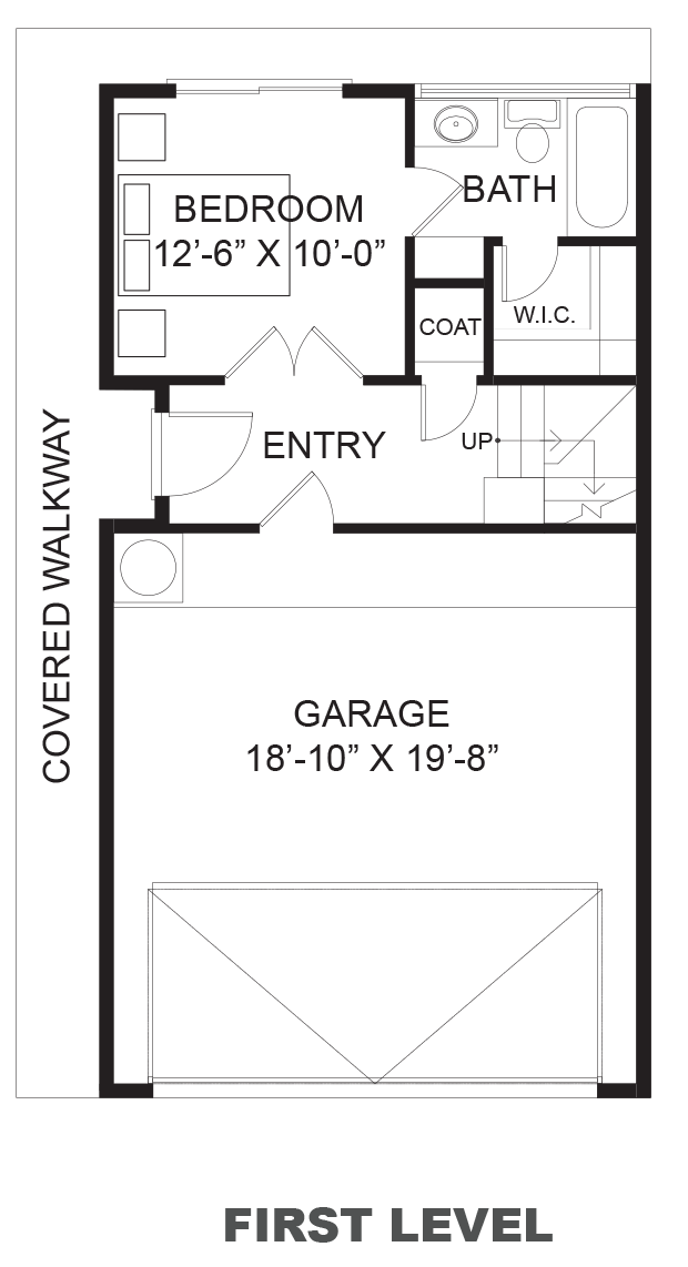 Hawthorne Avenue Townhomes - Plan B, First floor