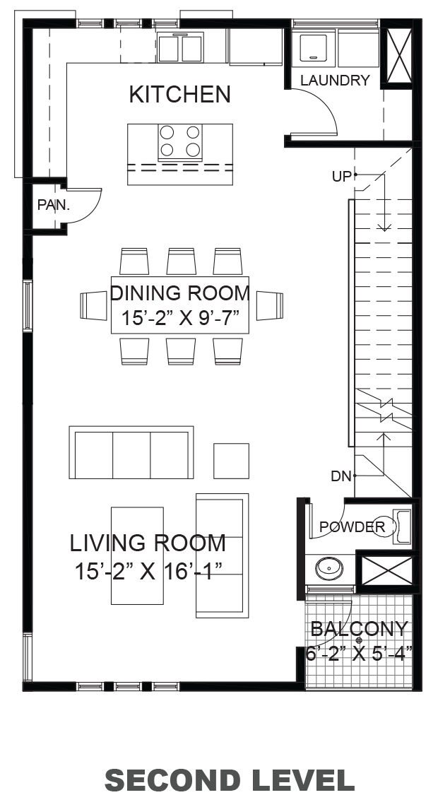 Hawthorne Avenue Townhomes - Plan B, Second floor