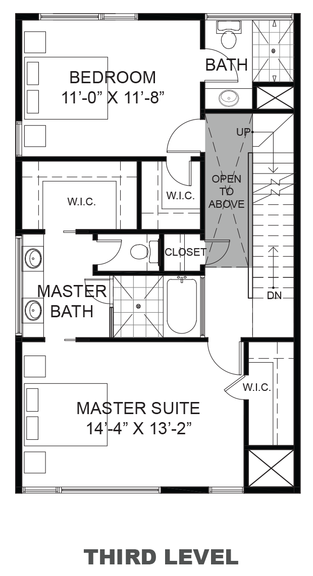 Hawthorne Avenue Townhomes - Plan B, Third floor