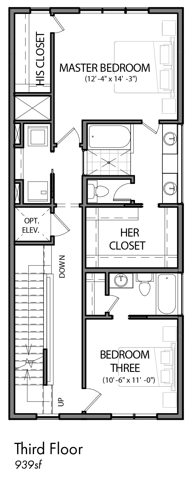 5855 east post oak lane urban lofts townhomes for Build on your lot houston floor plans