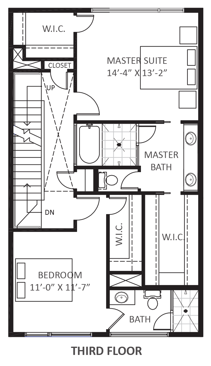 Wall Street Townhomes Phase II - Plan C, Third floor