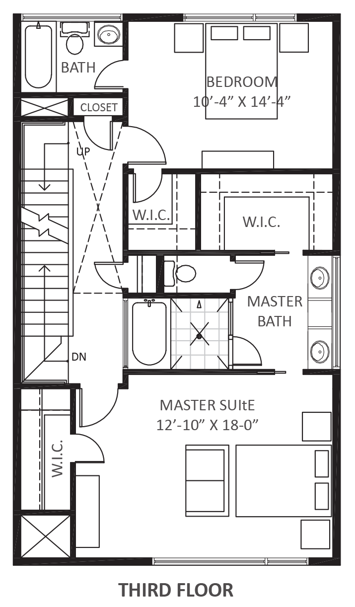 1234 hyde court urban lofts townhomes for 125 court street floor plans