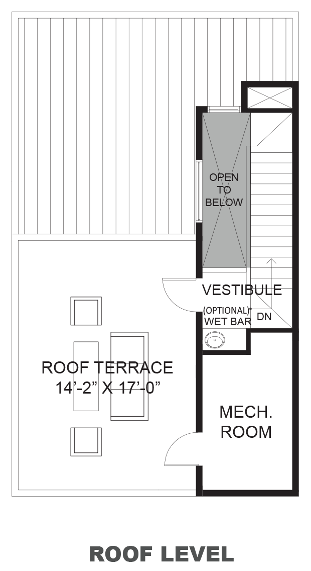 Wall Street Townhomes - Plan B, Roof terrace