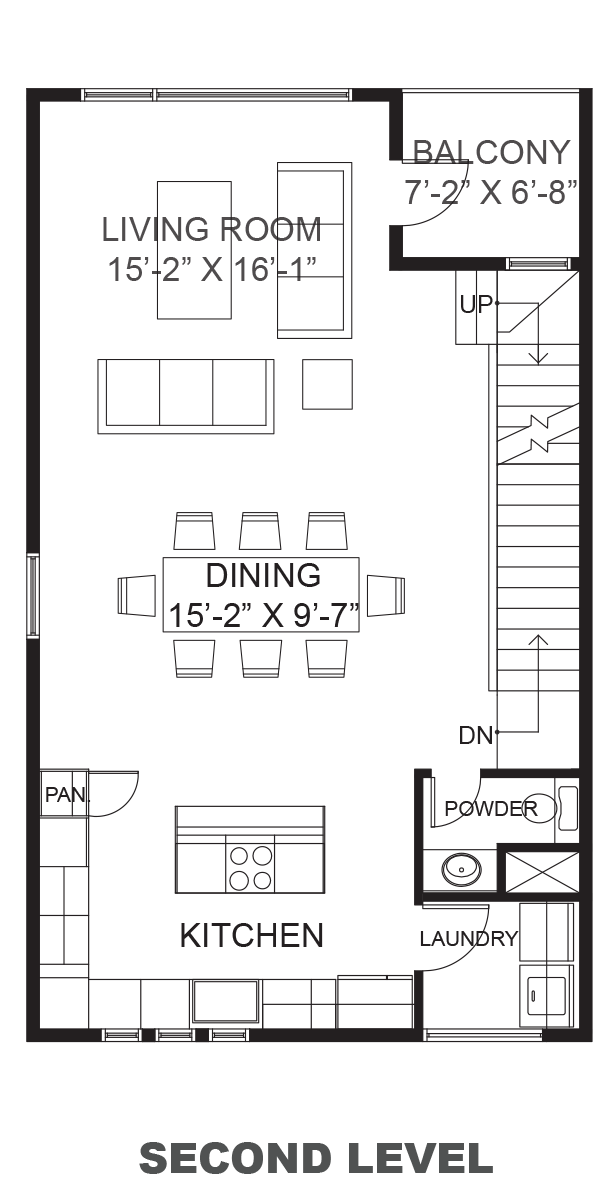 Lofts on West 24th - Plan A, Second floor