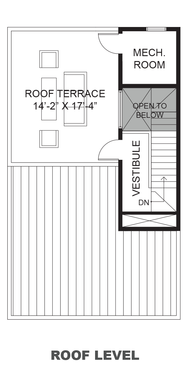 Lofts on West 24th - Plan A, Roof terrace