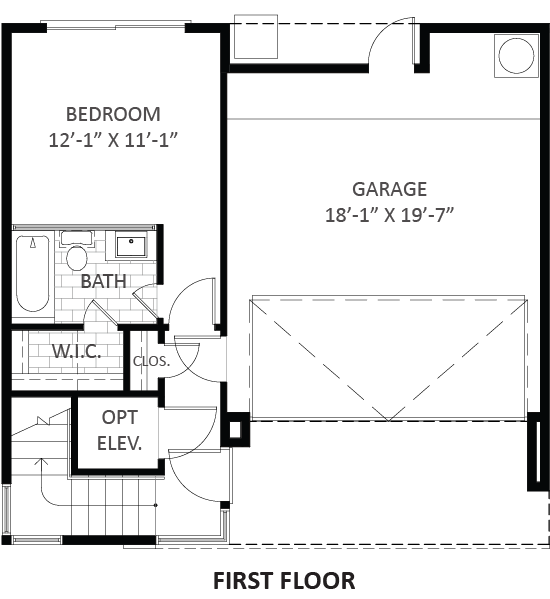 Lofts on West Bell - Plan A1, First floor