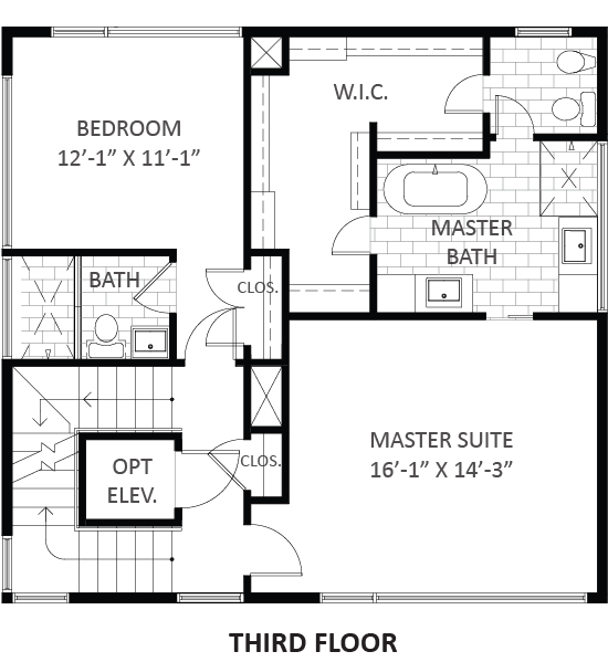 Lofts on West Bell - Plan A1, Third floor