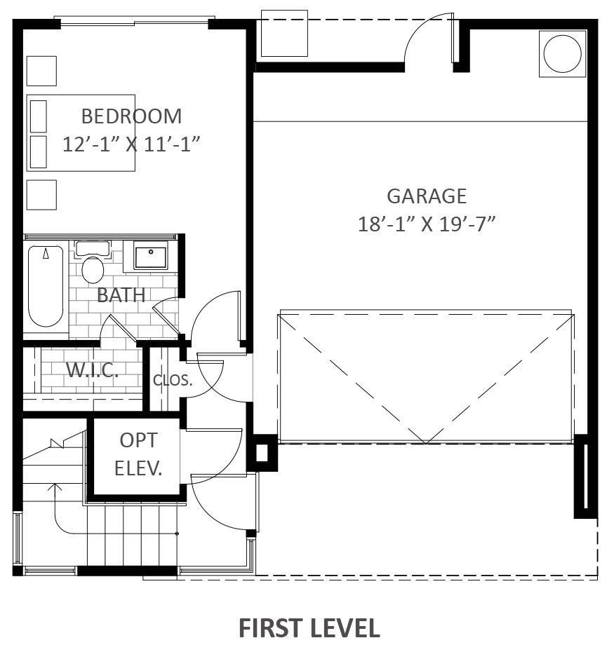 Lofts on West Bell - Plan A2, First floor
