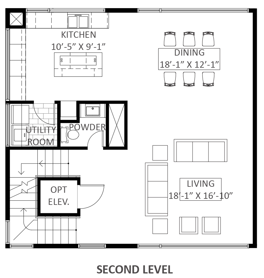 Lofts on West Bell - Plan A2, Second floor