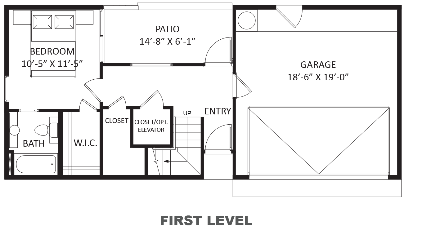 Lofts on West Bell - Plan B, First floor