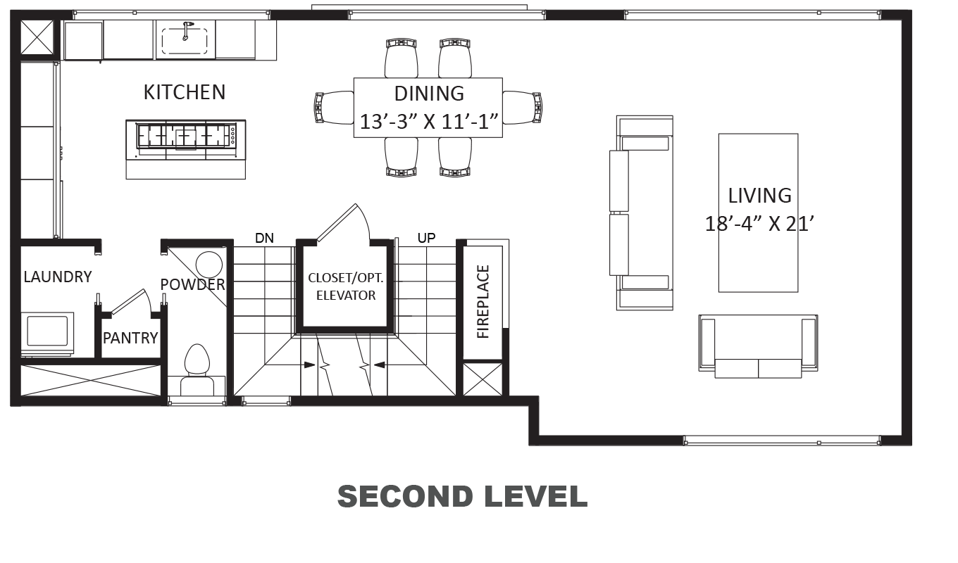 Lofts on West Bell - Plan B, Second floor